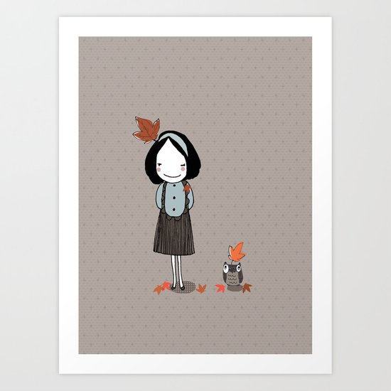 Autumn in my heart Art Print
