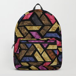 Seamless Colorful Geometric Pattern XIII Backpack