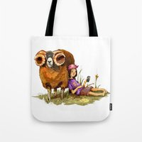 depression Tote Bags featuring Bucolic depression by Maria Manoura