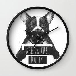 Rebel dog Wall Clock