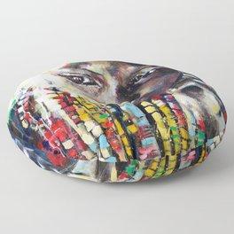 Reverie - Ethnic African portrait Floor Pillow