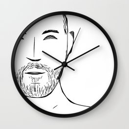 Beard Boy: Devon Wall Clock