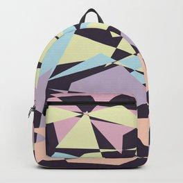 Pastel color block pattern Backpack