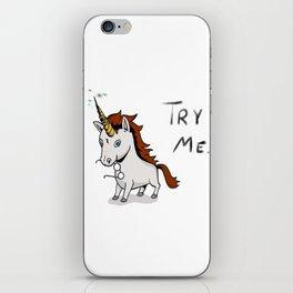 Try Me Unicorn iPhone Skin