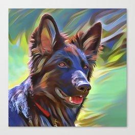 The Sable Shepherd Canvas Print
