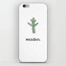 Wander. iPhone Skin