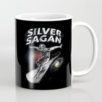 sagan Mugs featuring Silver Sagan by The Cracked Dispensary