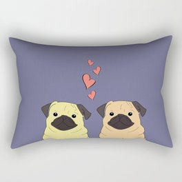 Purple Pugs Rectangular Pillow