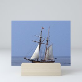 Tall ship Sailing the mighty Saint-Lawrence Mini Art Print
