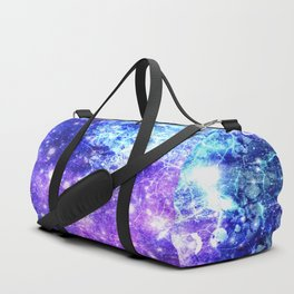 Chaotic Space : Galaxy Bright Purple & Blue Duffle Bag