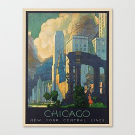 Vintage poster - Chicago Canvas Print