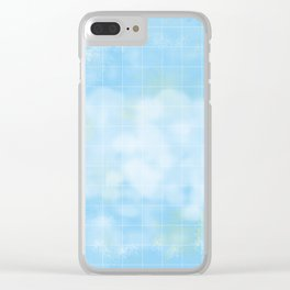 Clouds on a Grid Clear iPhone Case
