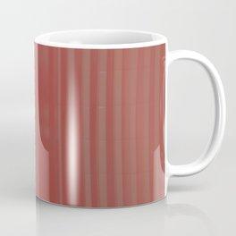 red striped glass subway tile Coffee Mug