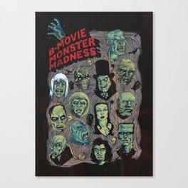 B-Movie Monster Madness Canvas Print