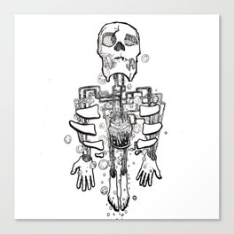 Left Behind Mason Jars Canvas Print