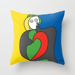 Ooh Zoo – art-series, Picasso Throw Pillow