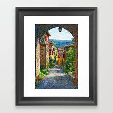 Look at the field Framed Art Print