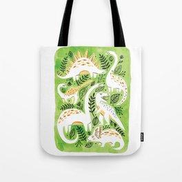 Dinosaur Forest Tote Bag