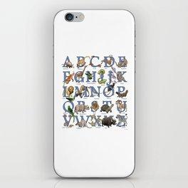 Animal Alphabet iPhone Skin