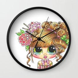 Sherri Baldy My Besties Sugar Plum Treats Big Eyed Art Wall Clock
