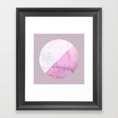 Rose Quartz Marble Framed Art Print