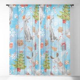 COOKIES FOR SANTA Sheer Curtain