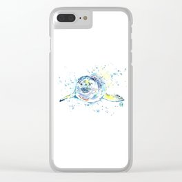 Harbour Seal Watercolor Painting - Emil Clear iPhone Case