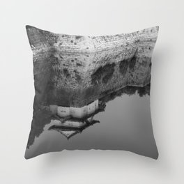 Reflections of Osaka Castle Throw Pillow