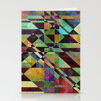 fault Stationery Cards featuring Fault Lines by Klara Acel