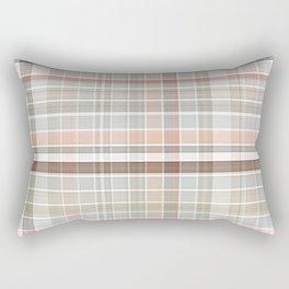 Colorful Stylish Chic Pastels Classic Plaid Tartan Pattern Rectangular Pillow