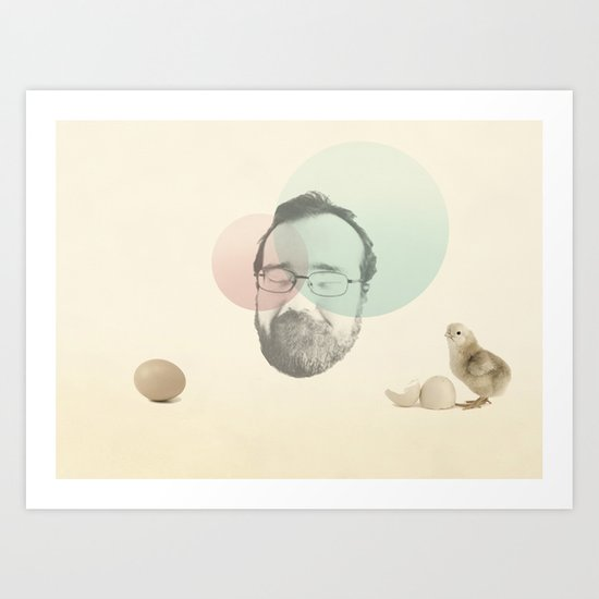 chicken and the egg Art Print