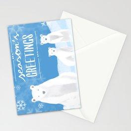 Season's Greetings: Polar Bears Stationery Cards