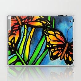 Beautiful Monarch Butterflies Fluttering Over Palm Fronds by annmariescreations Laptop & iPad Skin