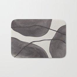 Charcoal Shapes Bath Mat