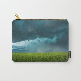April Showers - Colorful Stormy Sky Over Lush Field in Kansas Carry-All Pouch