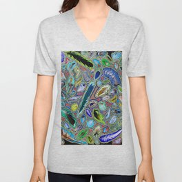 Feathers of birds of the world Unisex V-Neck