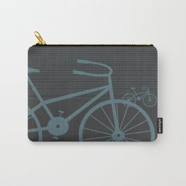 Grey Bike by Friztin Carry-All Pouch