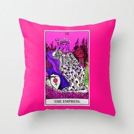 3. The Empress- Neon Dreams Tarot Throw Pillow
