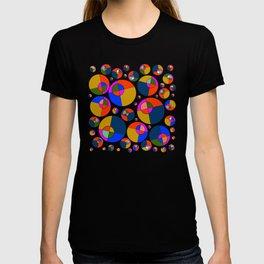 Bubble pink & blue 07 T-shirt