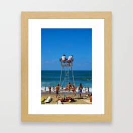 Biarritz, France - Lookouts Framed Art Print