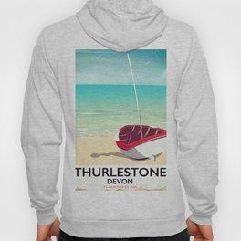 Thurlestone Devon rail poster Hoody