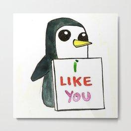 Pinguin Love Metal Print