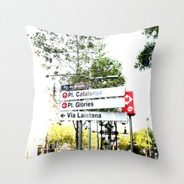 places Throw Pillow