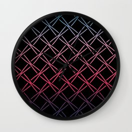 Fences Abstract Ombre Wall Clock