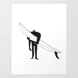 Man with a gun Art Print