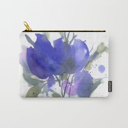 Bluest Blue Bloom Carry-All Pouch