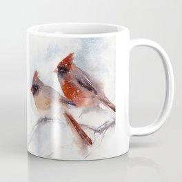 Northern Cardinal Birds Couple Coffee Mug