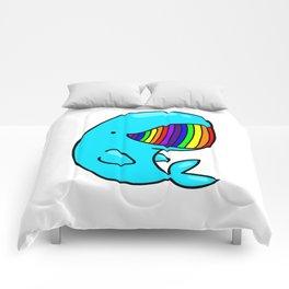 Rainbow Whale Comforters