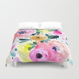 Wake Up Floral Duvet Cover