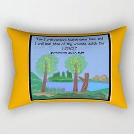 Jeremiah 30:17, KJV Rectangular Pillow